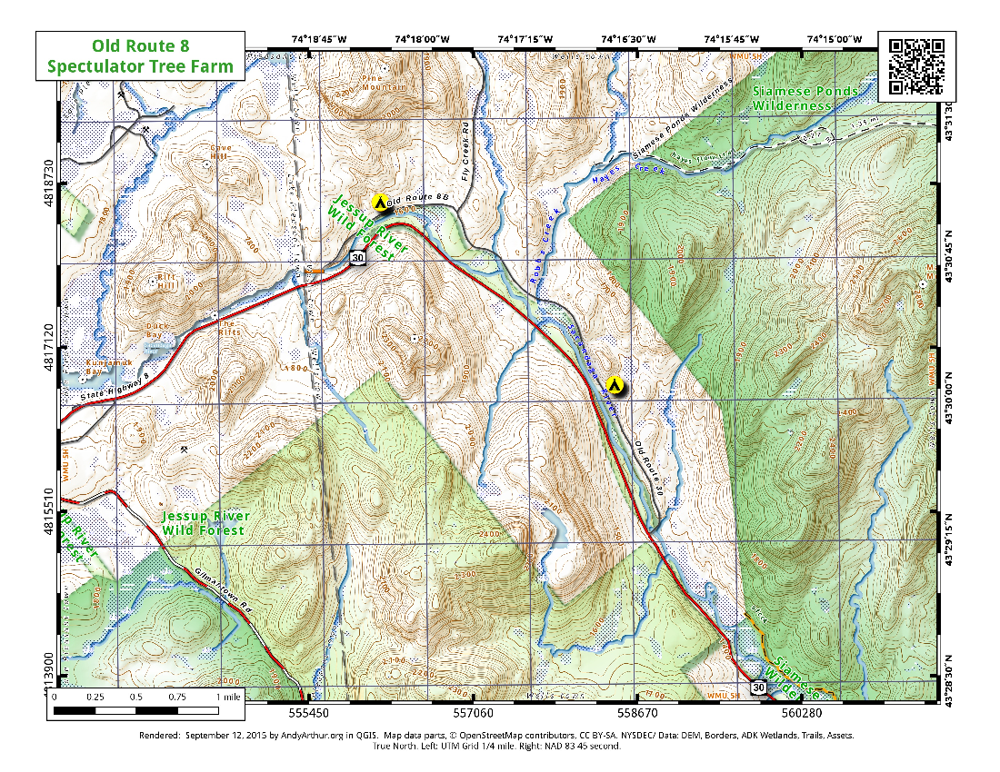 Map: Old Route 8 Campsites