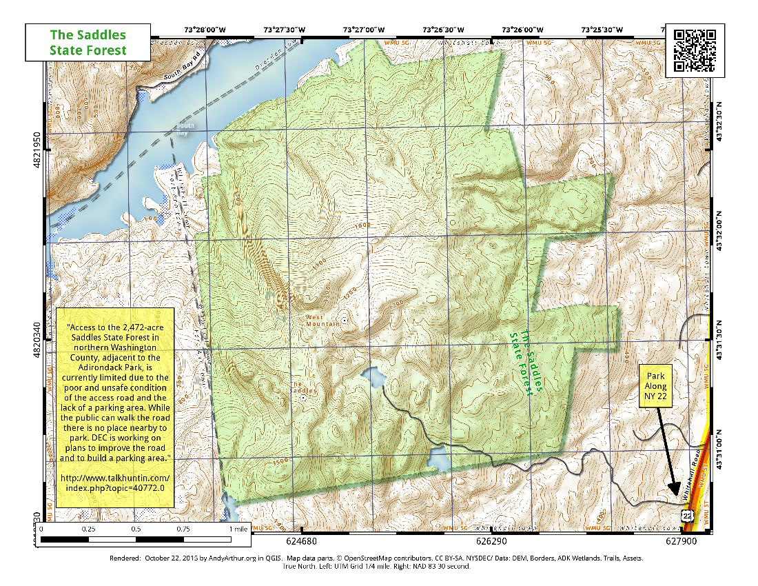 Map: The Saddles State Forest