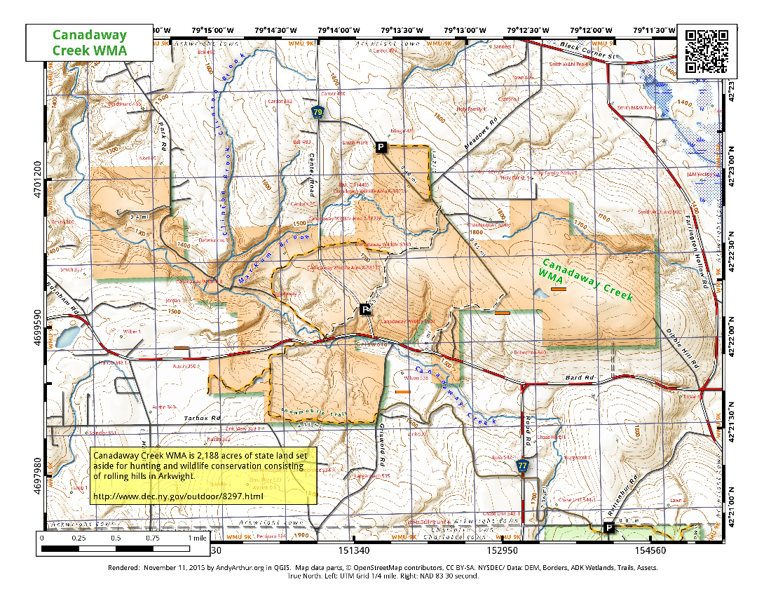 Map: Canadaway Creek WMA