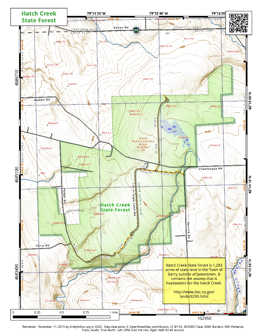 Map: Hatch Creek State Forest