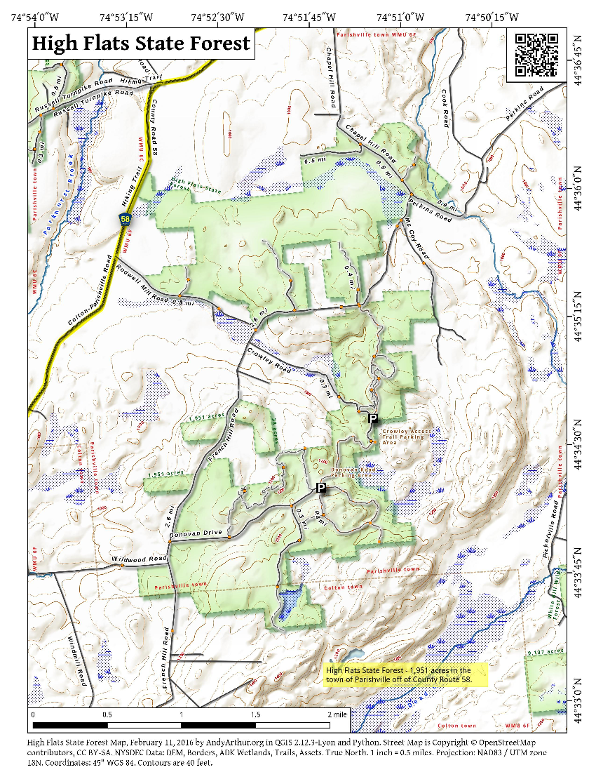 Map: High Flats State Forest