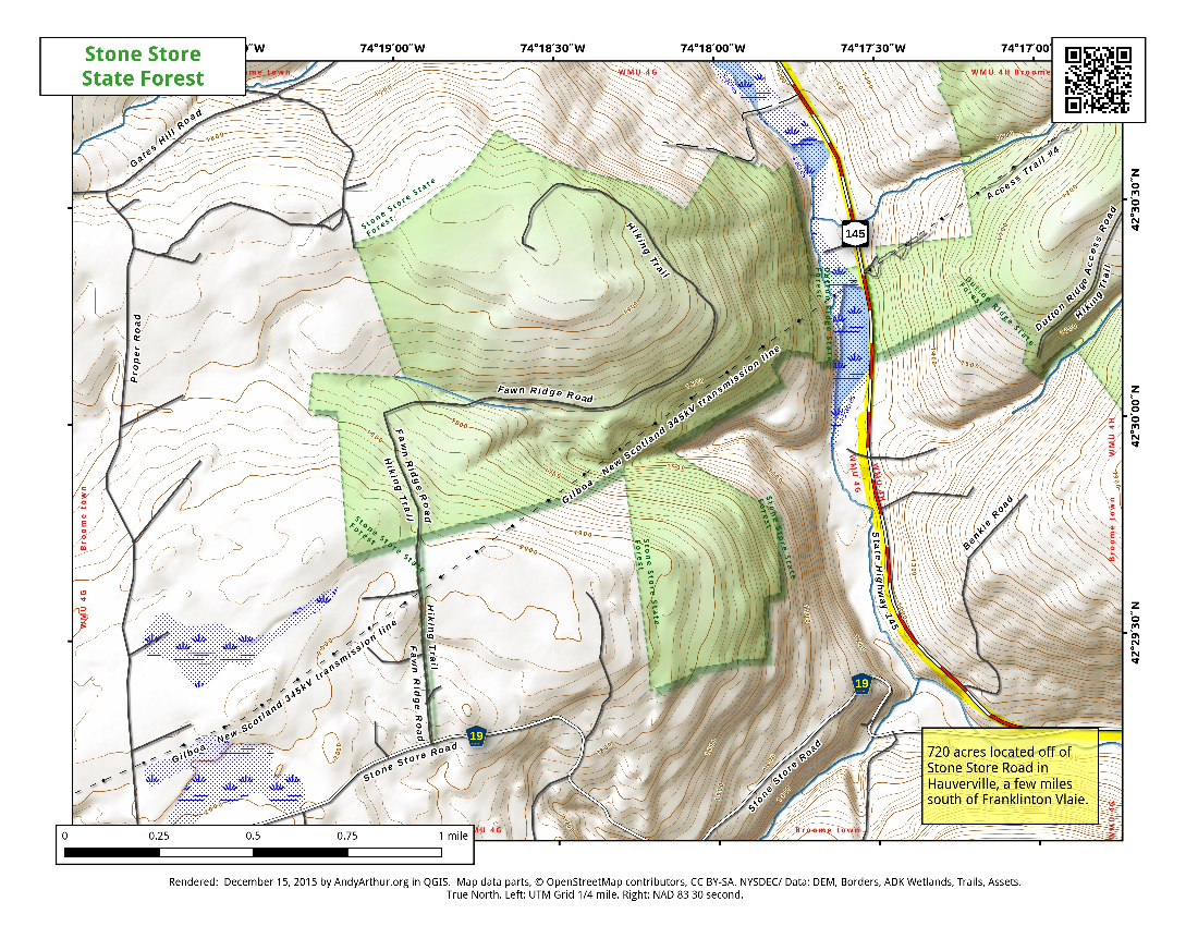 Map: Stone Store State Forest