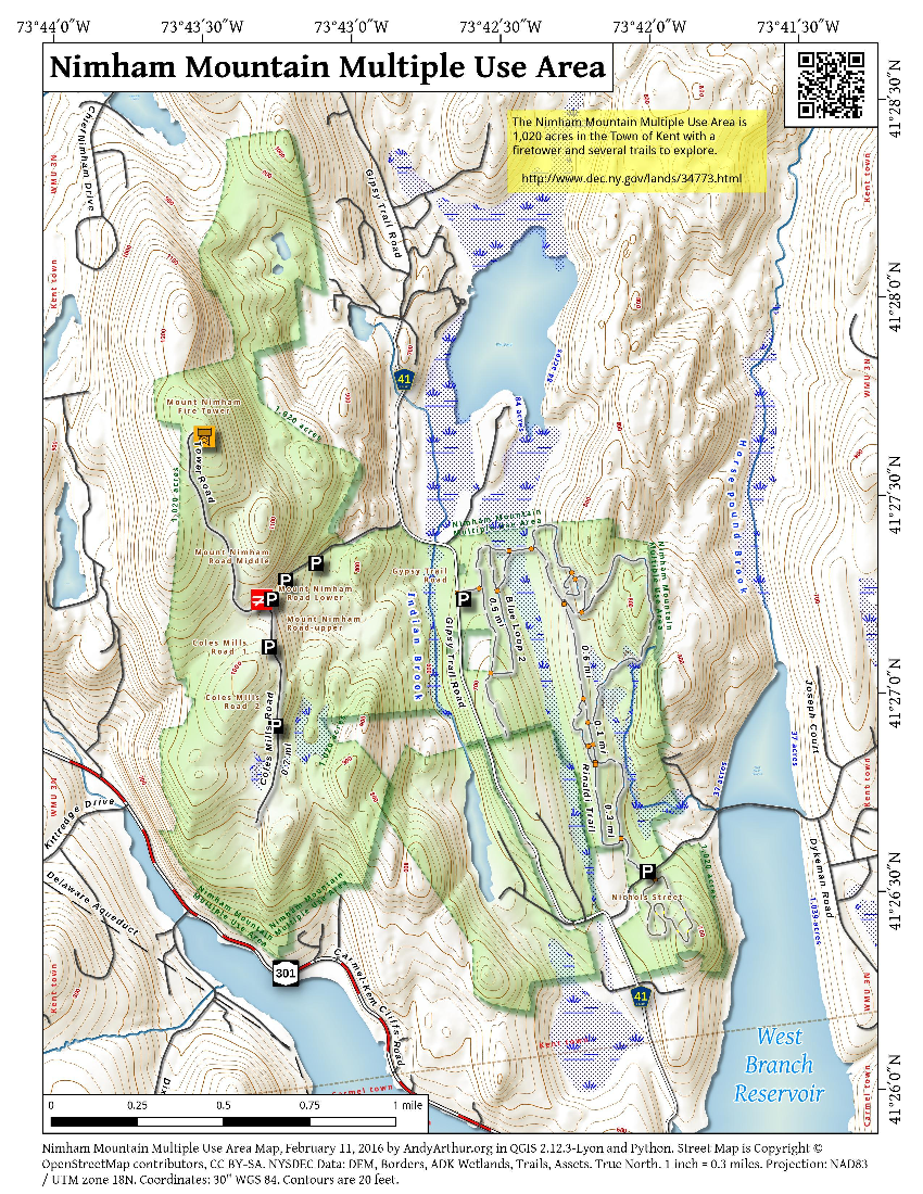 Map: Nimham Mountain Multiple Use Area