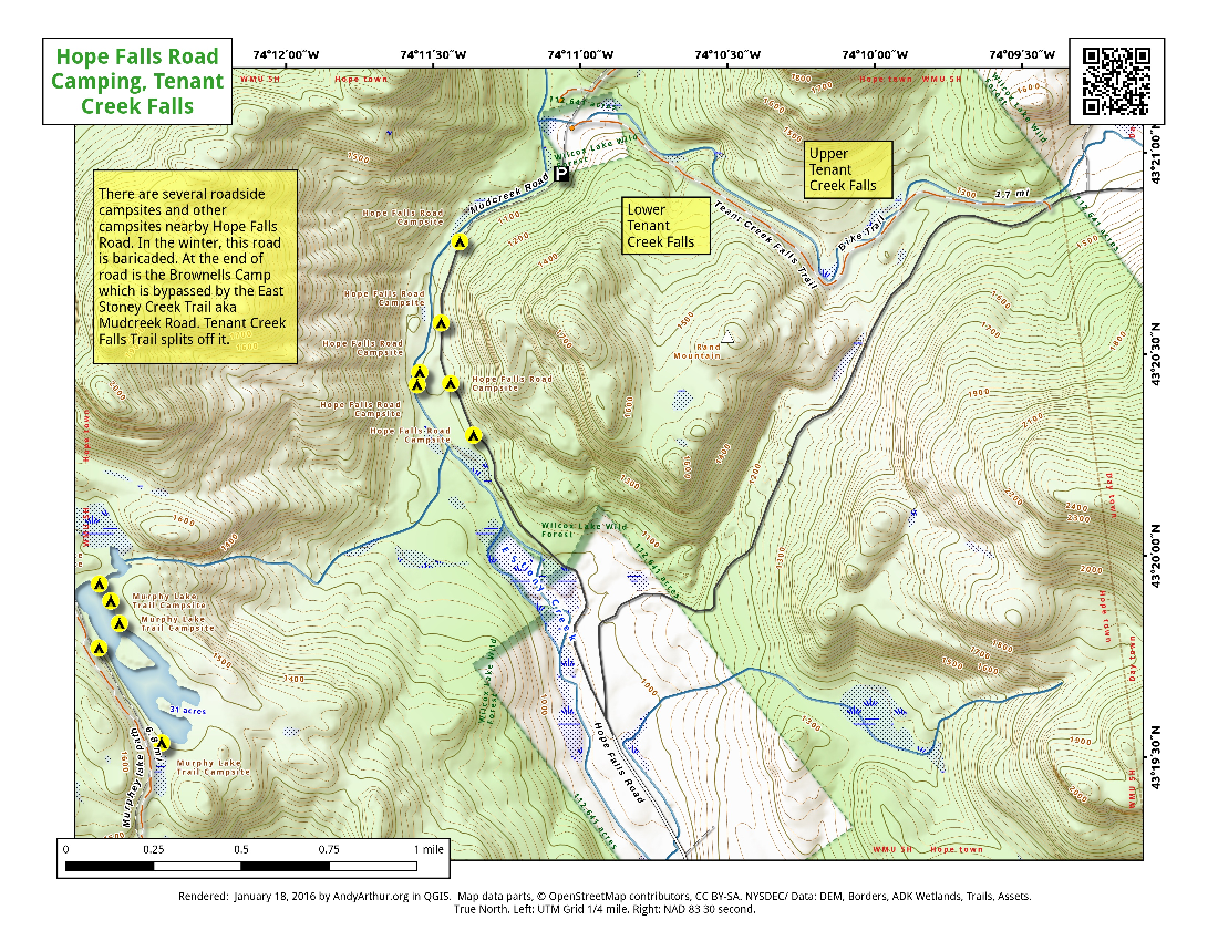 Map: Hope Falls Roadside Camping and Tenant Creek Falls