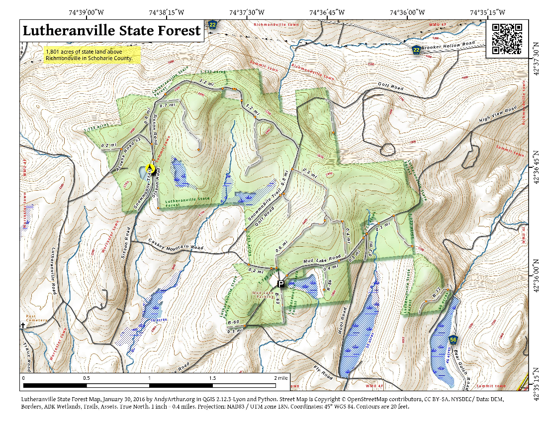 Map: Lutheranville State Forest
