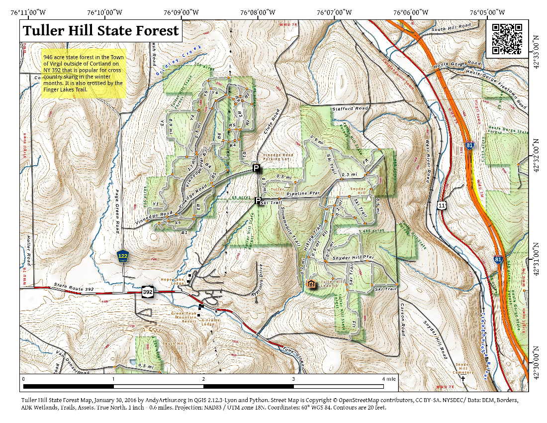 Map: Tuller Hill State Forest