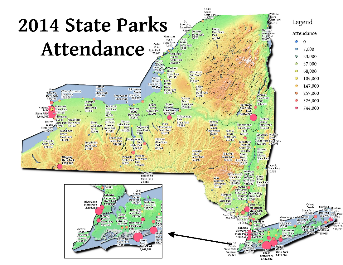 Map: 2014 State Parks Attendance