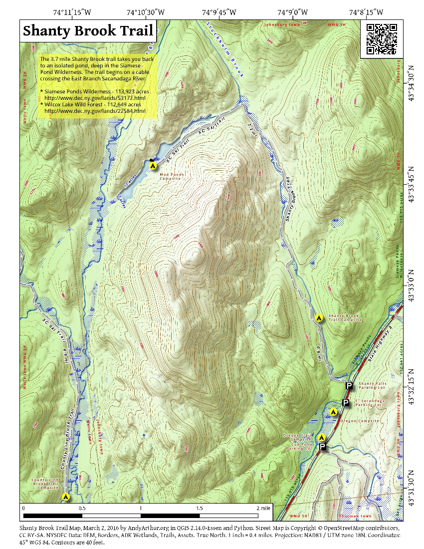 Map: Shanty Brook Trail