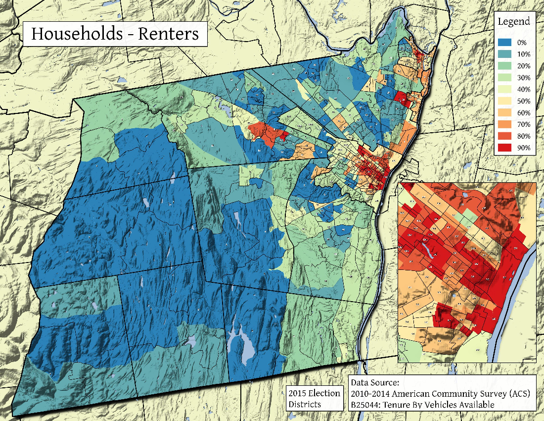 Map: Households – Renters