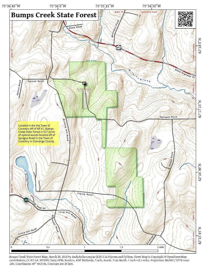 Map: Bumps Creek State Forest