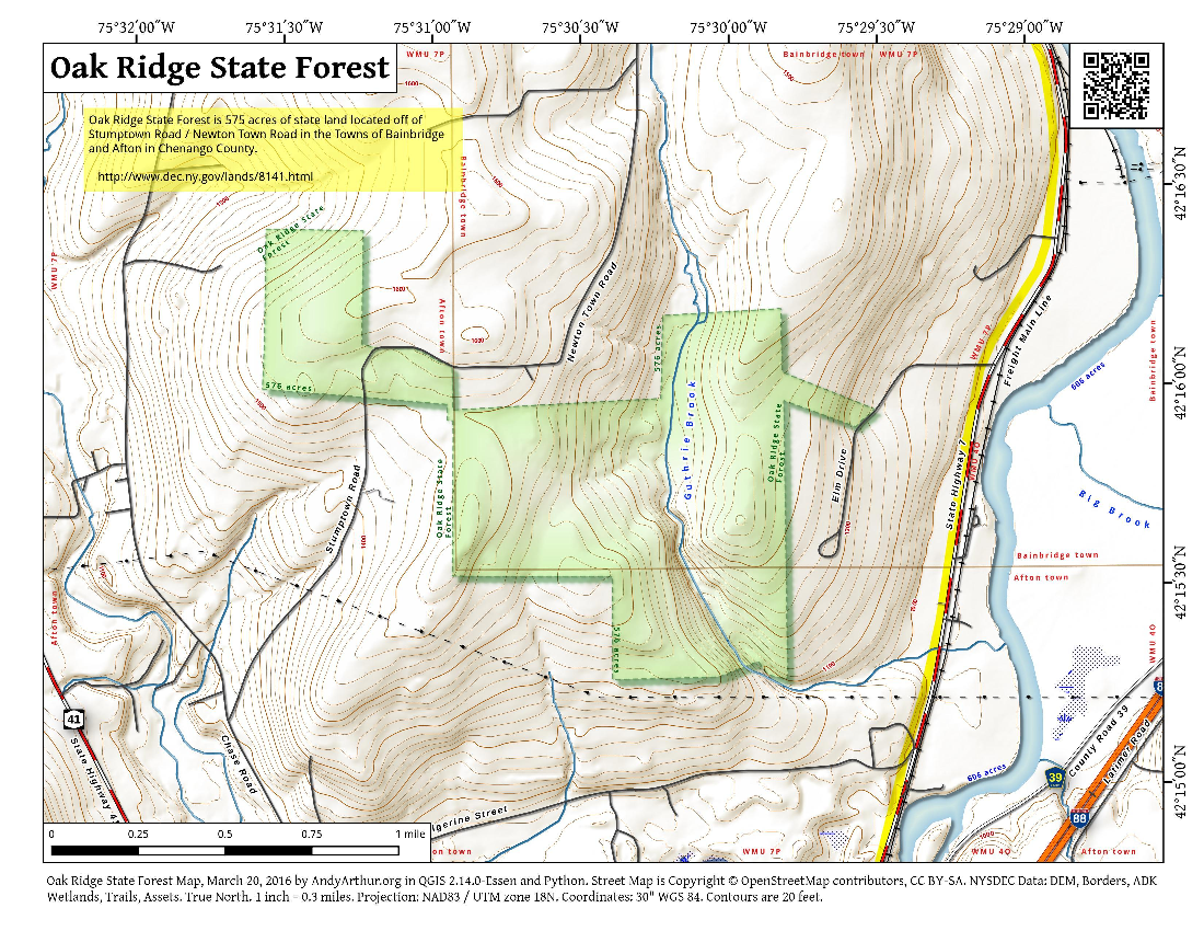Map: Oak Ridge State Forest