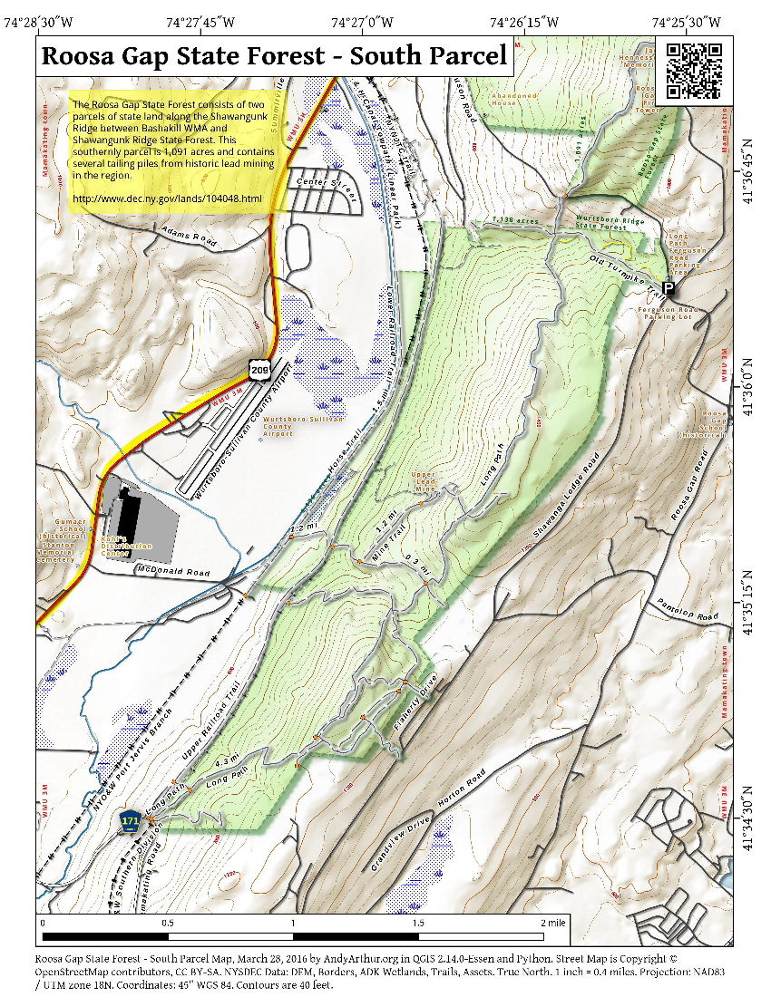 Map: Roosa Gap State Forest – South Parcel