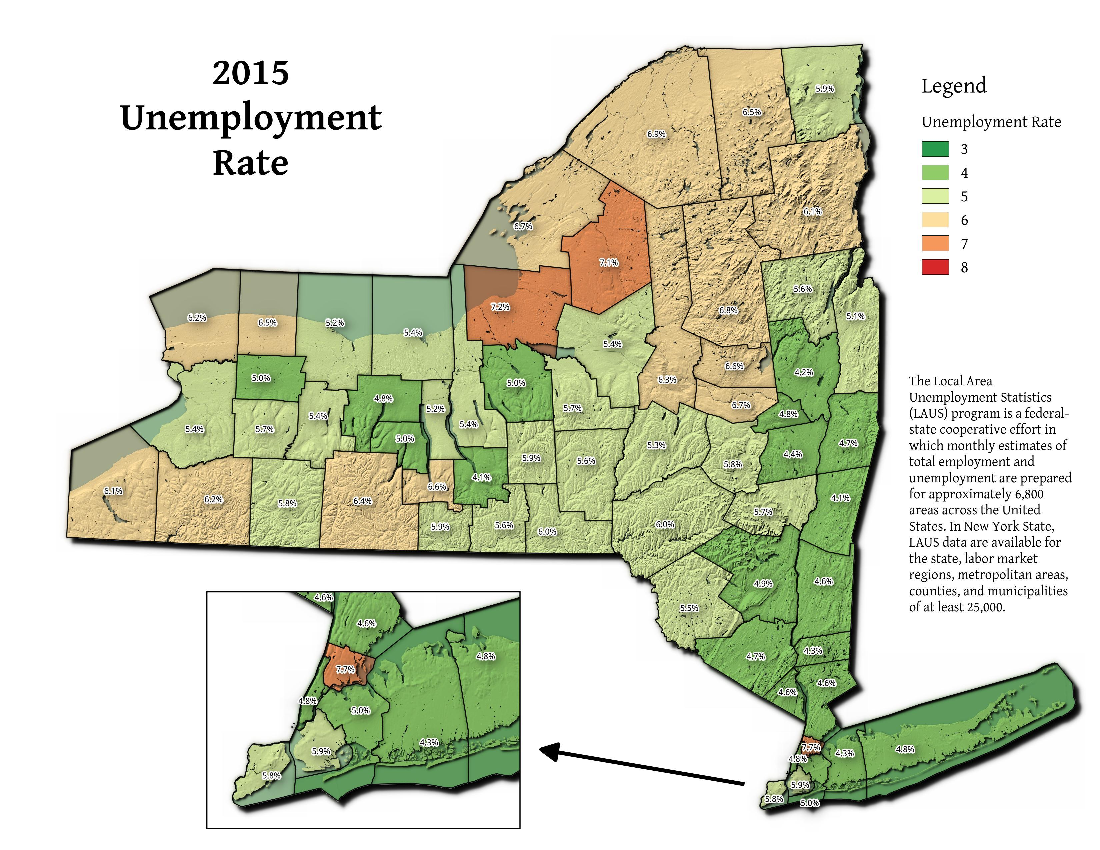 Map: 2015 Unemployment Rate