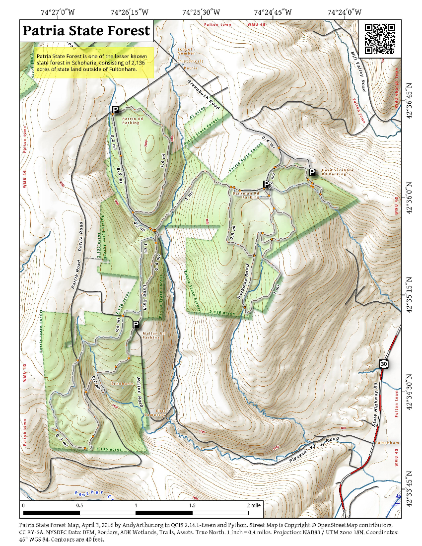 Map: Patria State Forest
