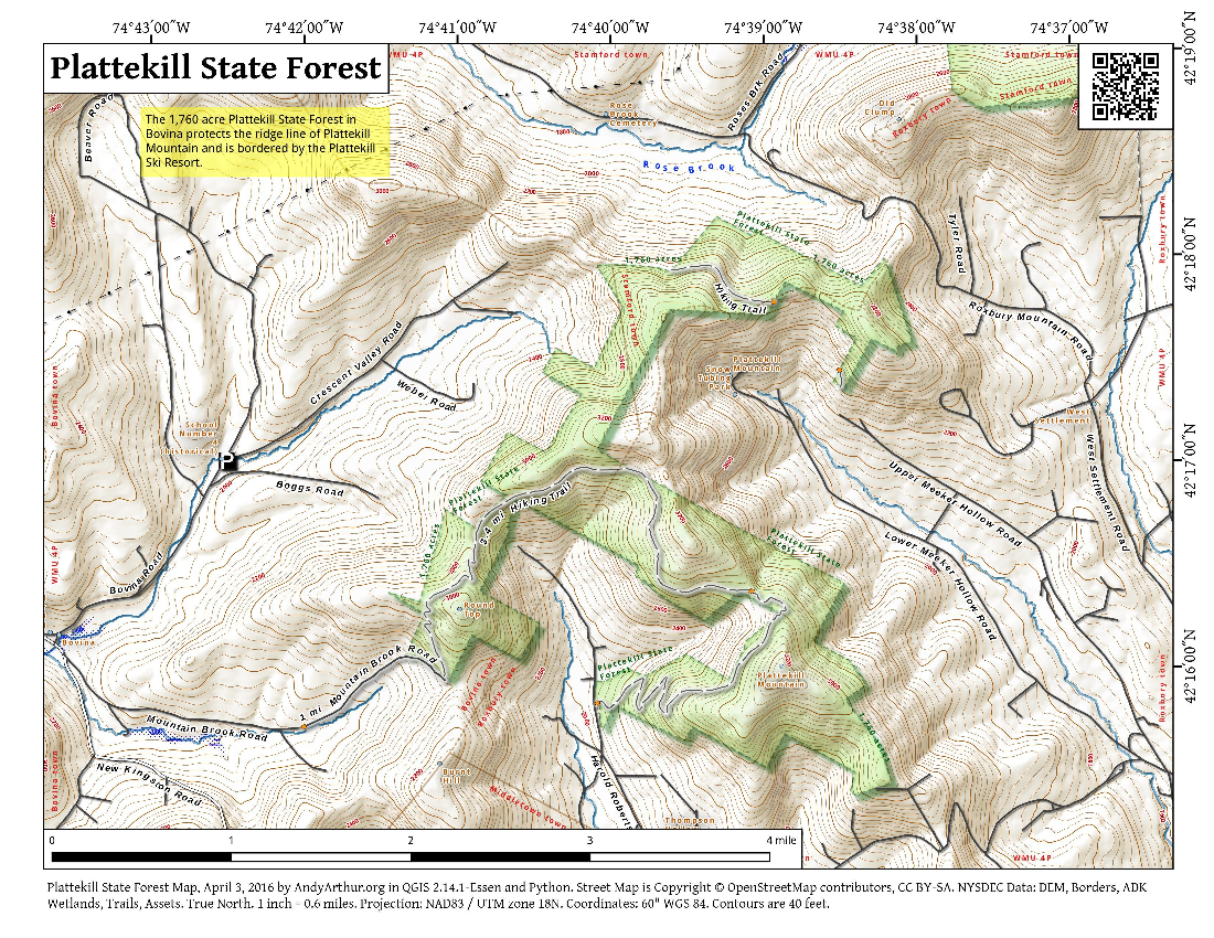Map: Plattekill State Forest