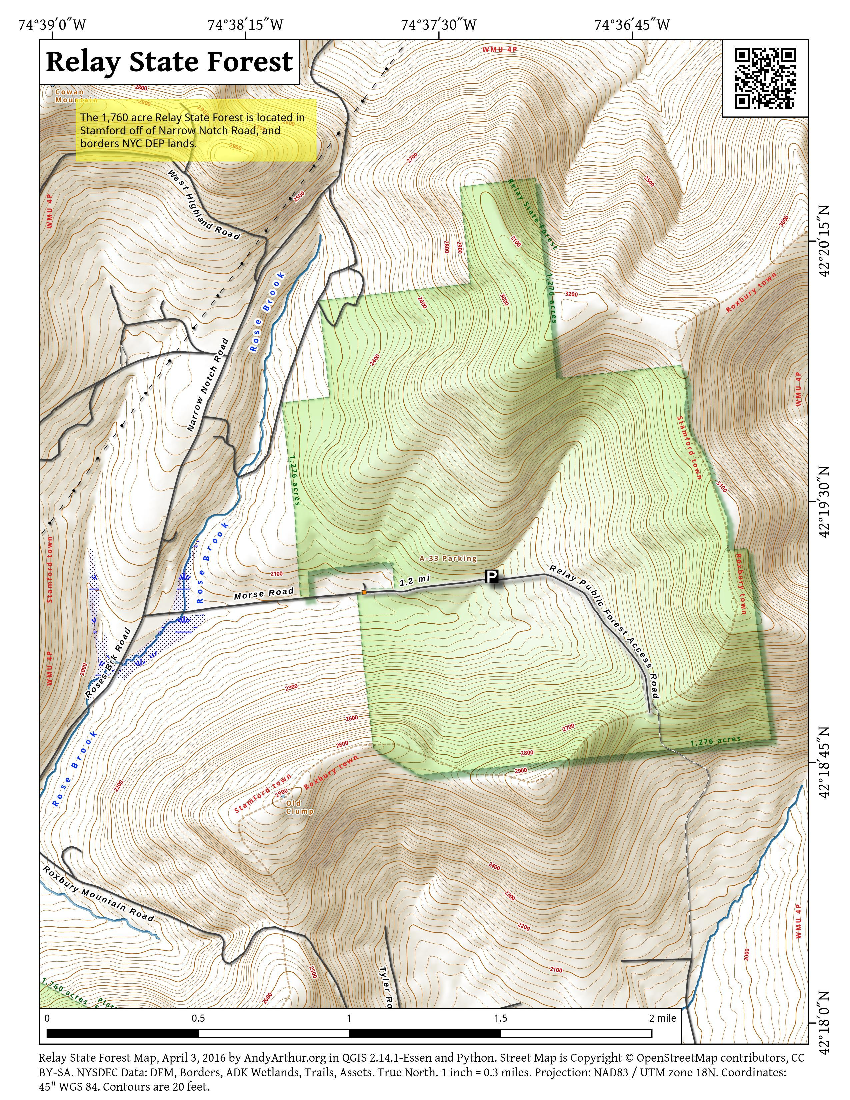 Map: Relay State Forest