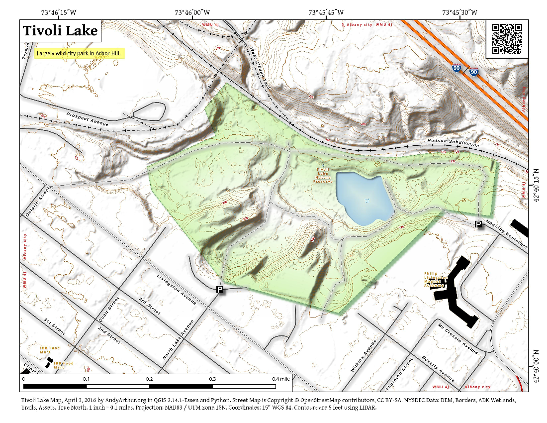Map: Tivoli Lake