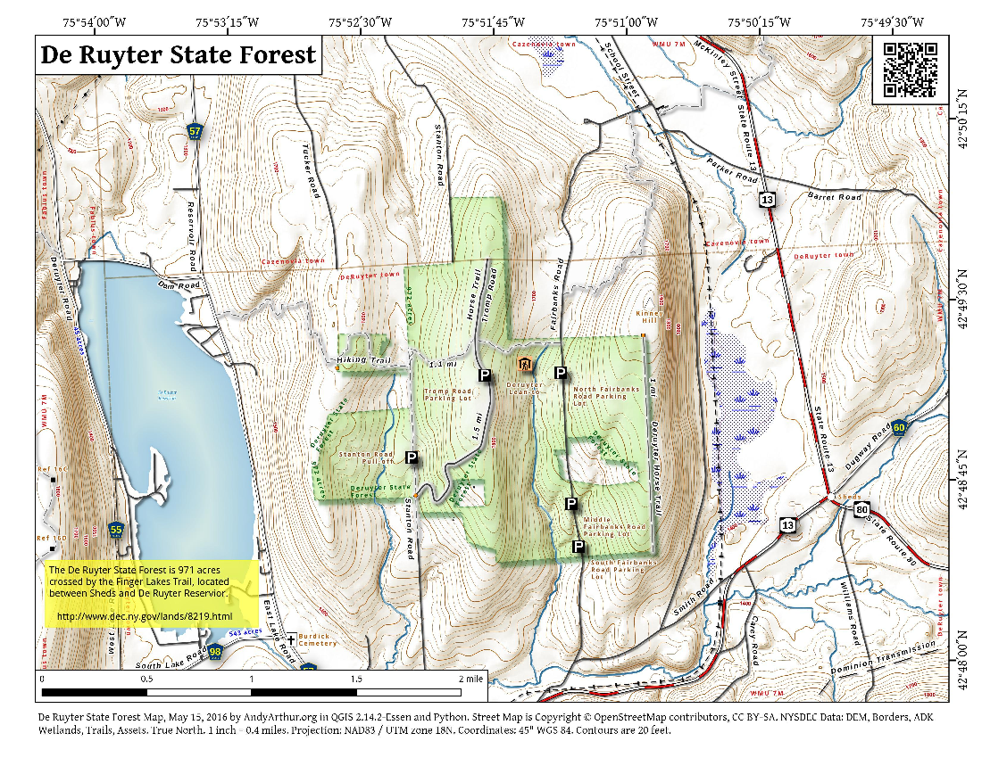 Map: De Ruyter State Forest