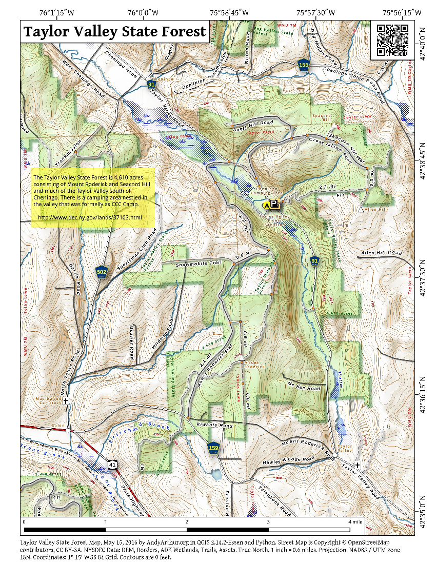 Map: Taylor Valley State Forest