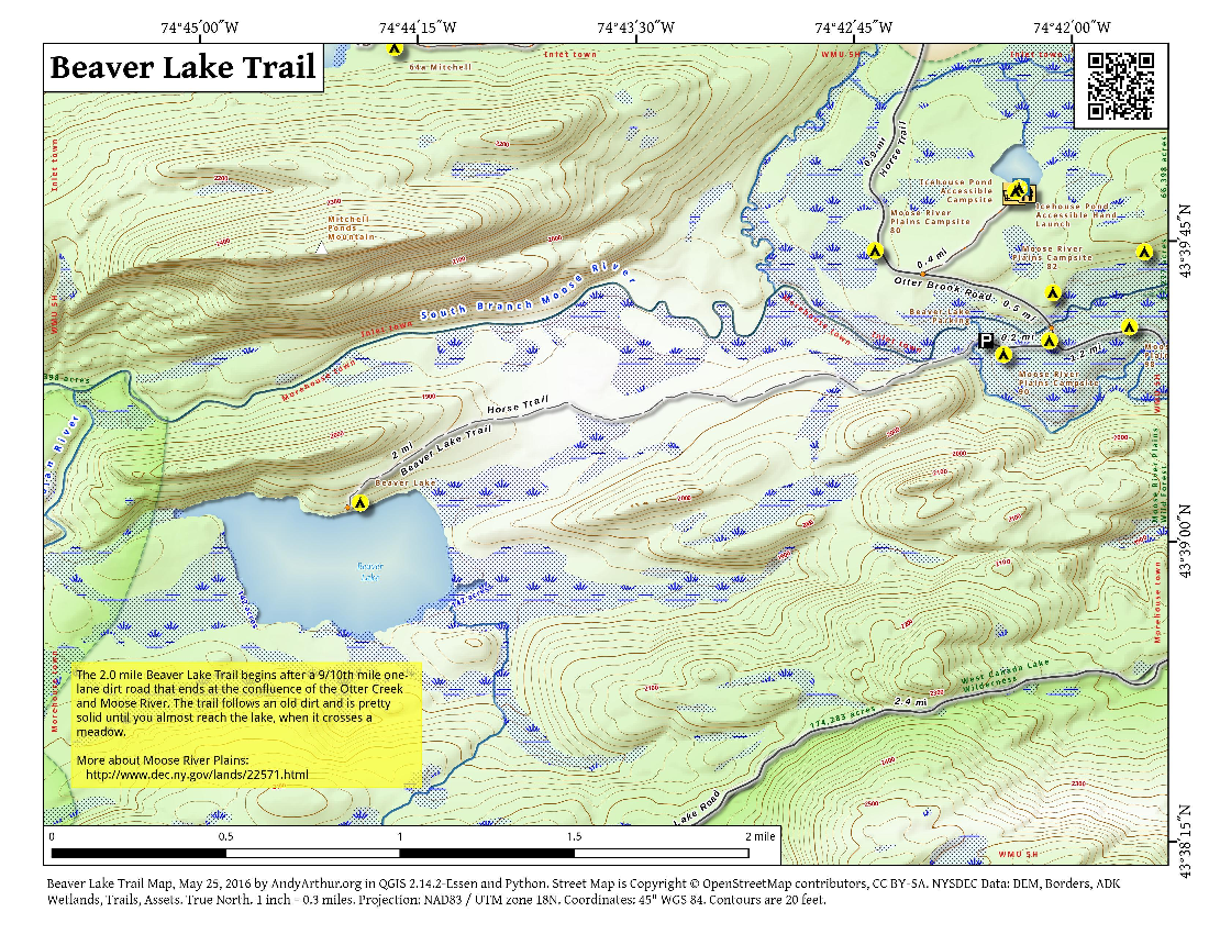Map: Beaver Lake Trail