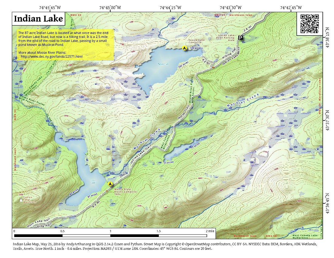 Map: Indian Lake