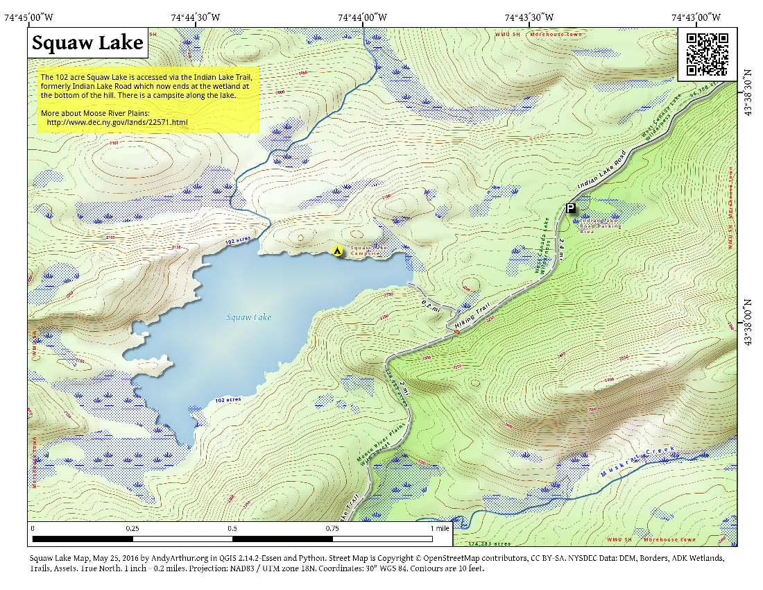 Map: Squaw Lake