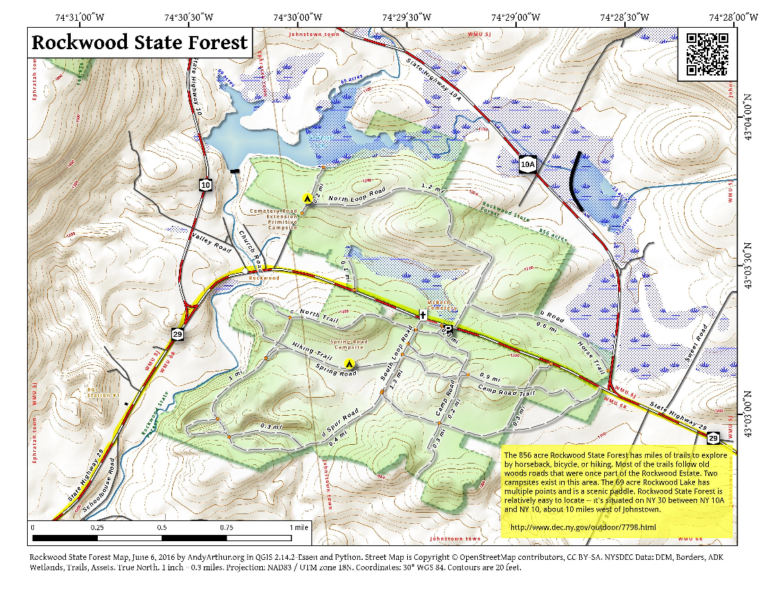 Map: Rockwood State Forest