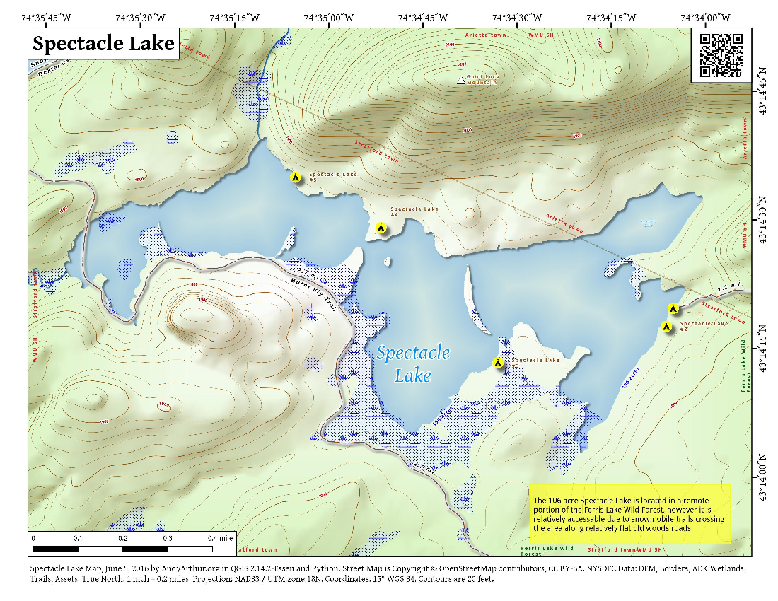 Map: Spectacle Lake