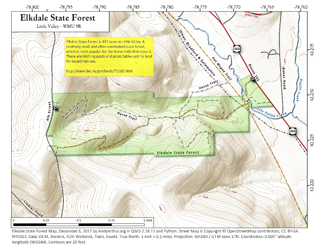 Map: Elkdale State Forest