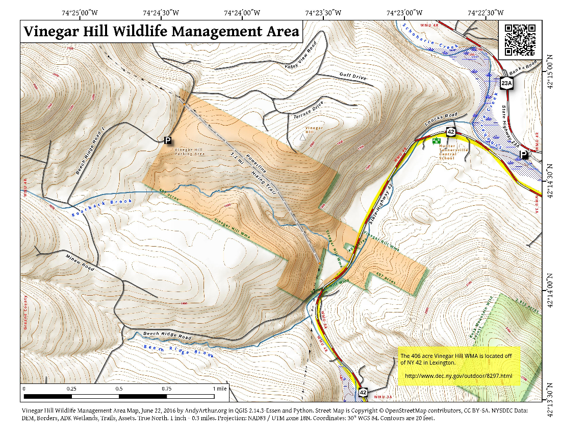 Map: Vinegar Hill Wildlife Management Area