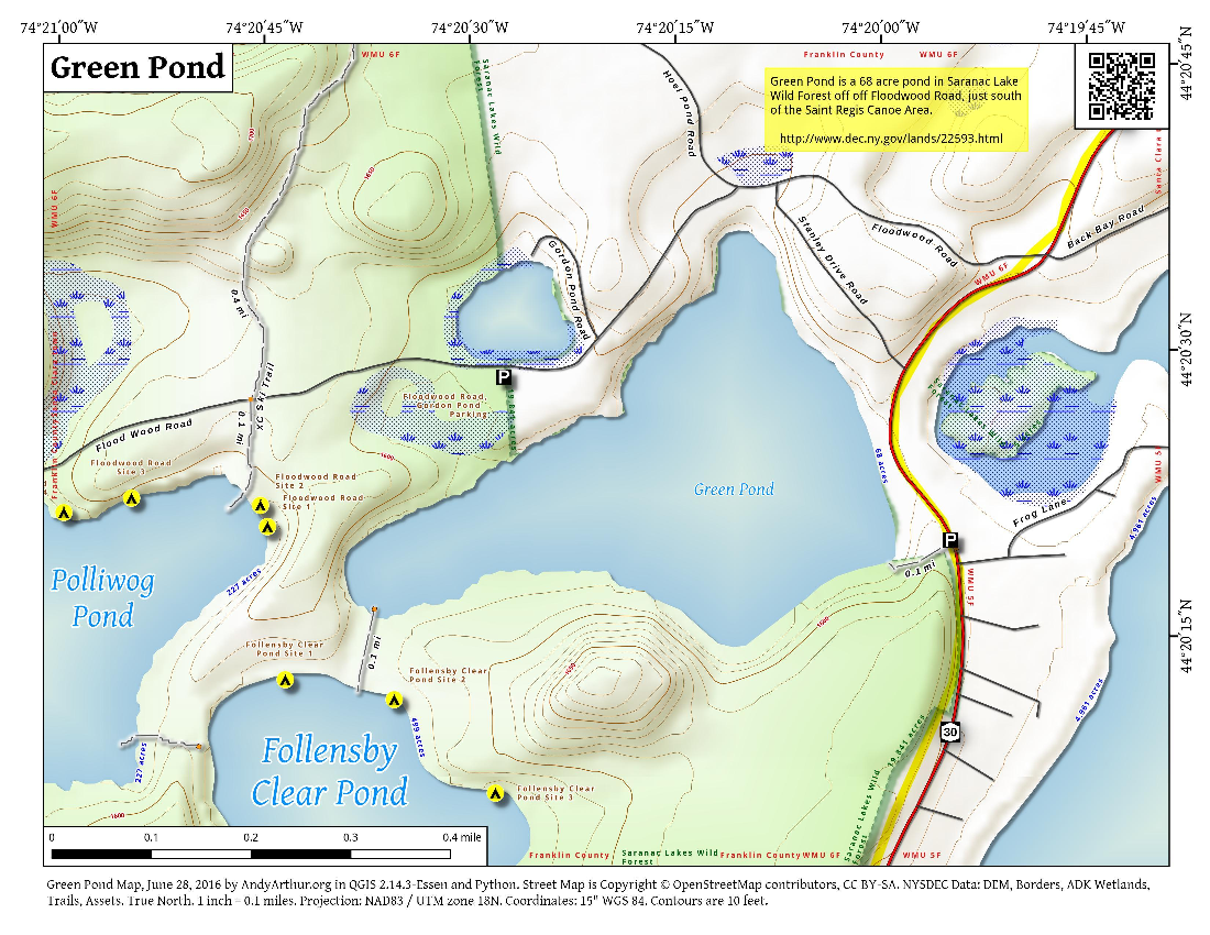 Map: Green Pond