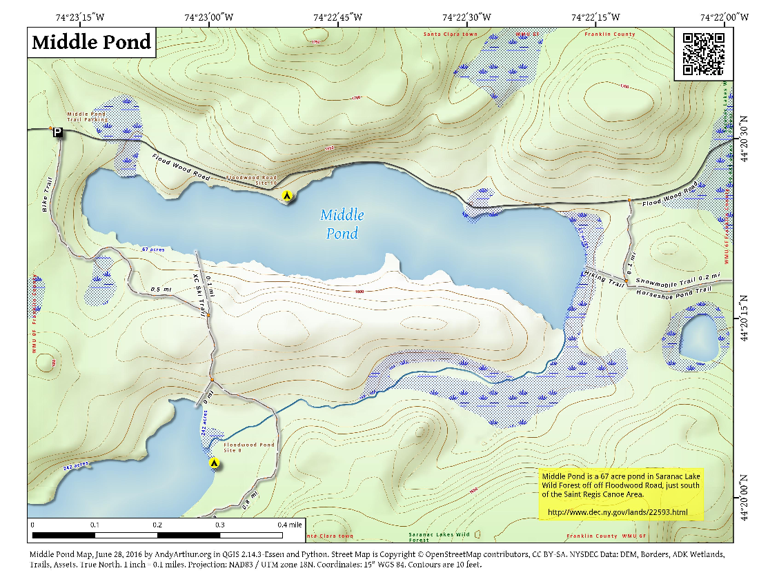 Map: Middle Pond