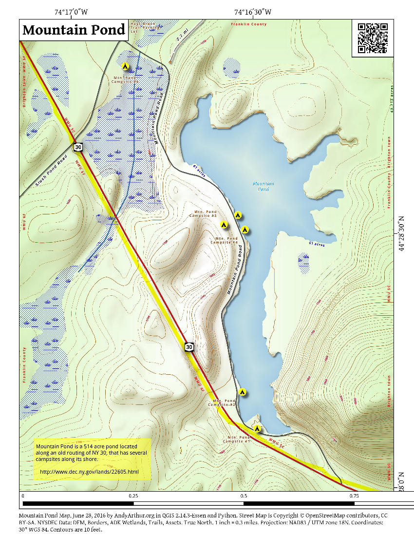 Map: Mountain Pond