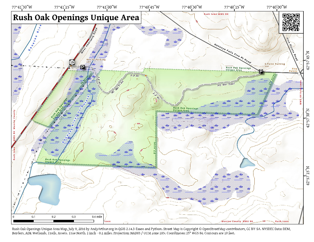 Map: Rush Oak Openings Unique Area