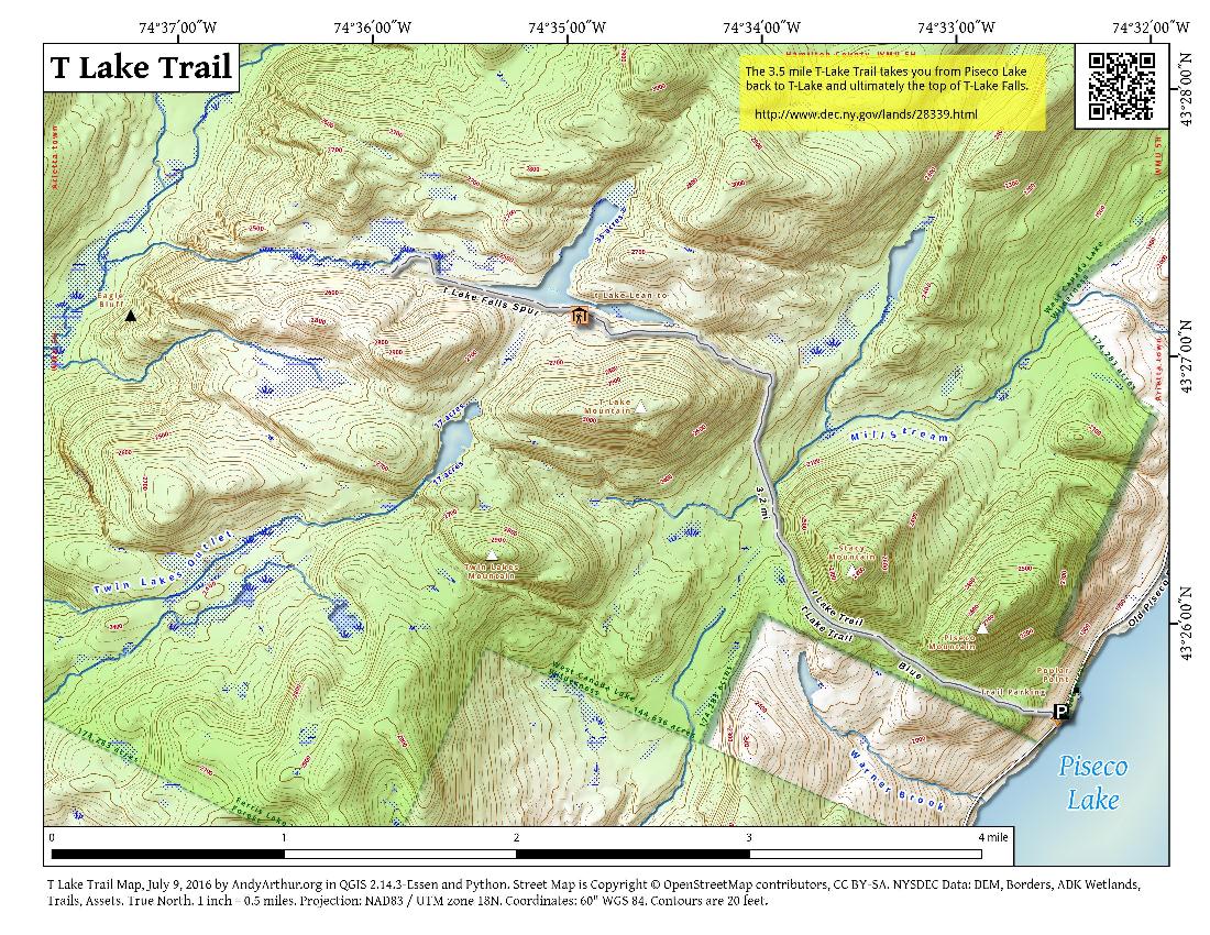 map t lake trail