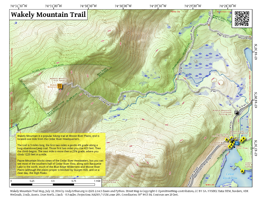Map: Wakely Mountain Trail