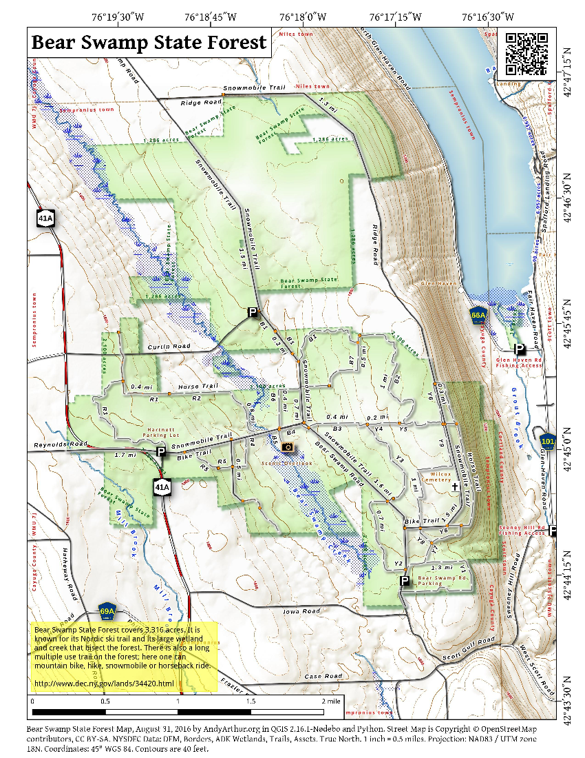Map: Bear Swamp State Forest