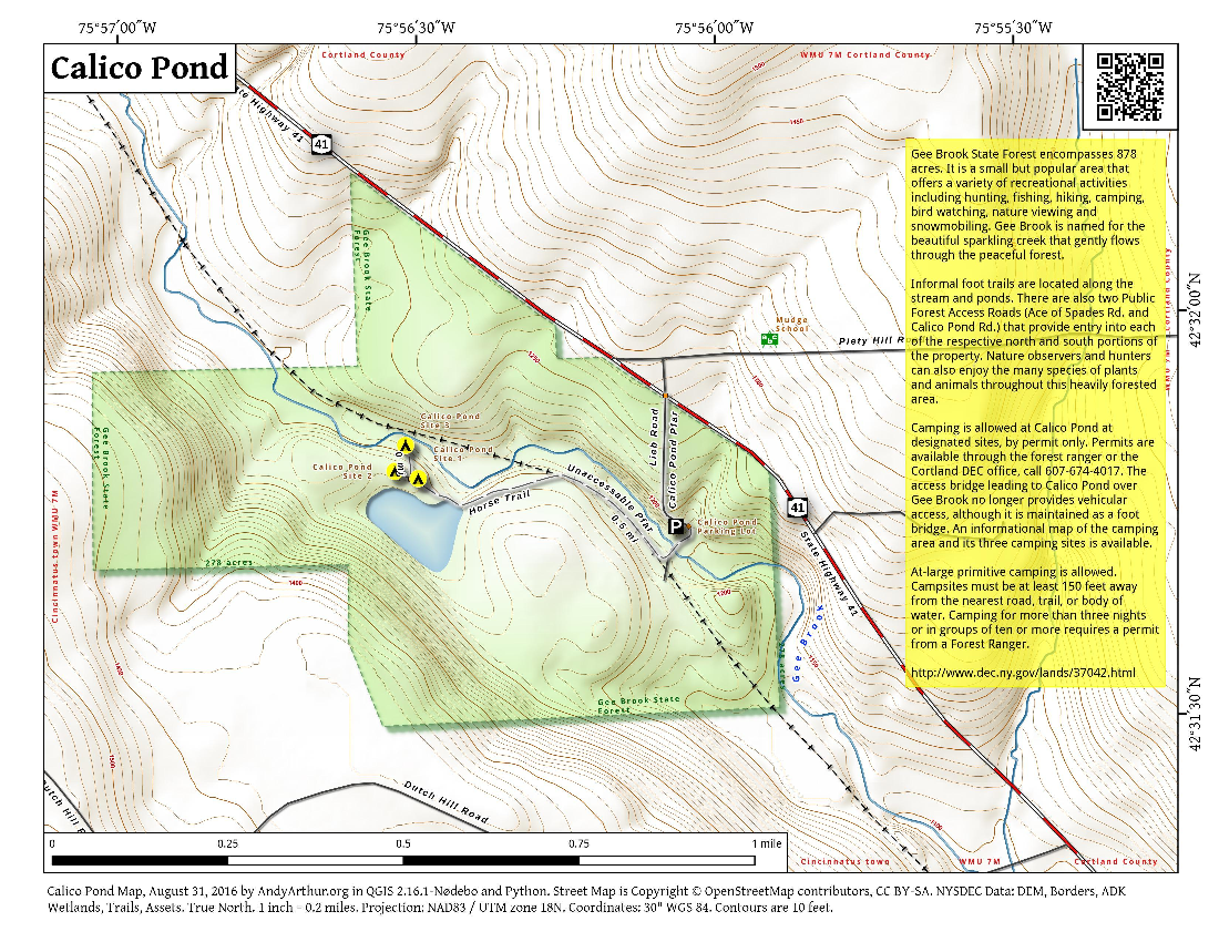 Map: Calico Pond
