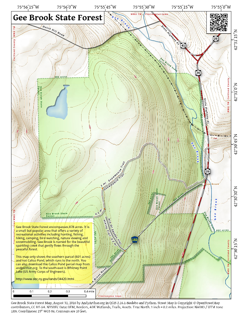 Map: Gee Brook State Forest