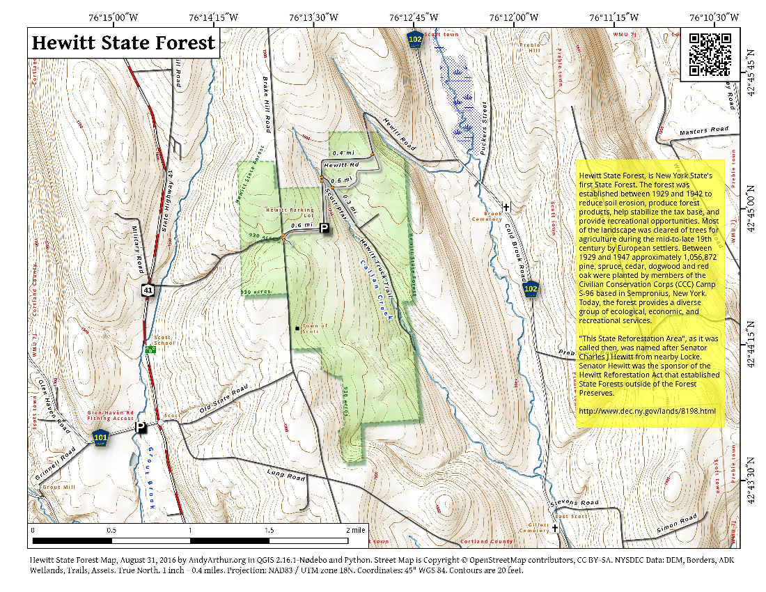 Map: Hewitt State Forest