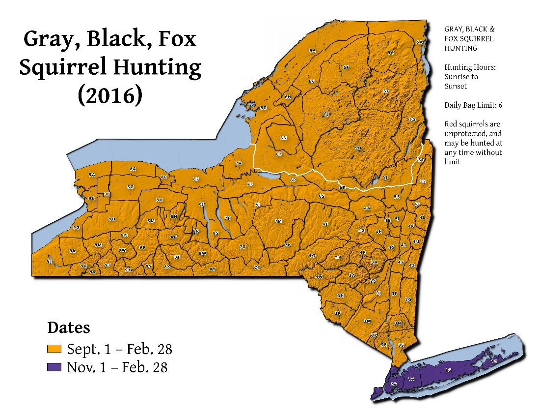 Map: 2016-2017 Gray, Black and Fox Squirrel Hunting