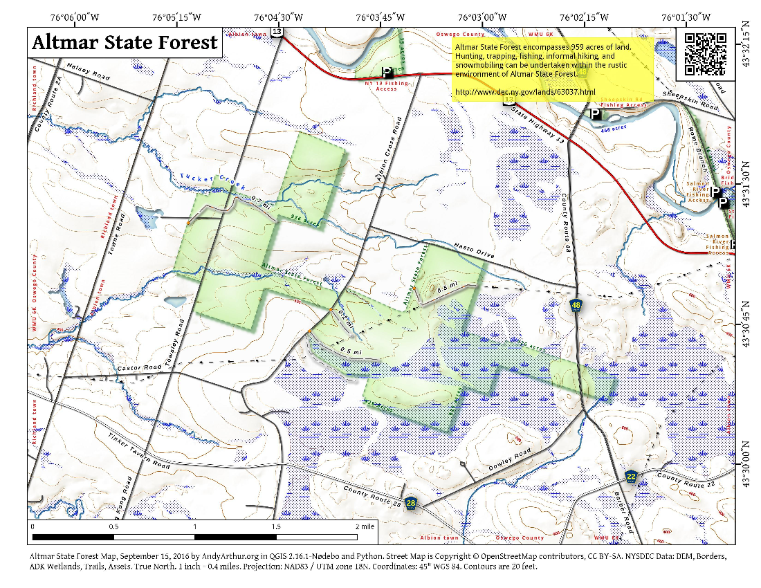 Map: Altmar State Forest
