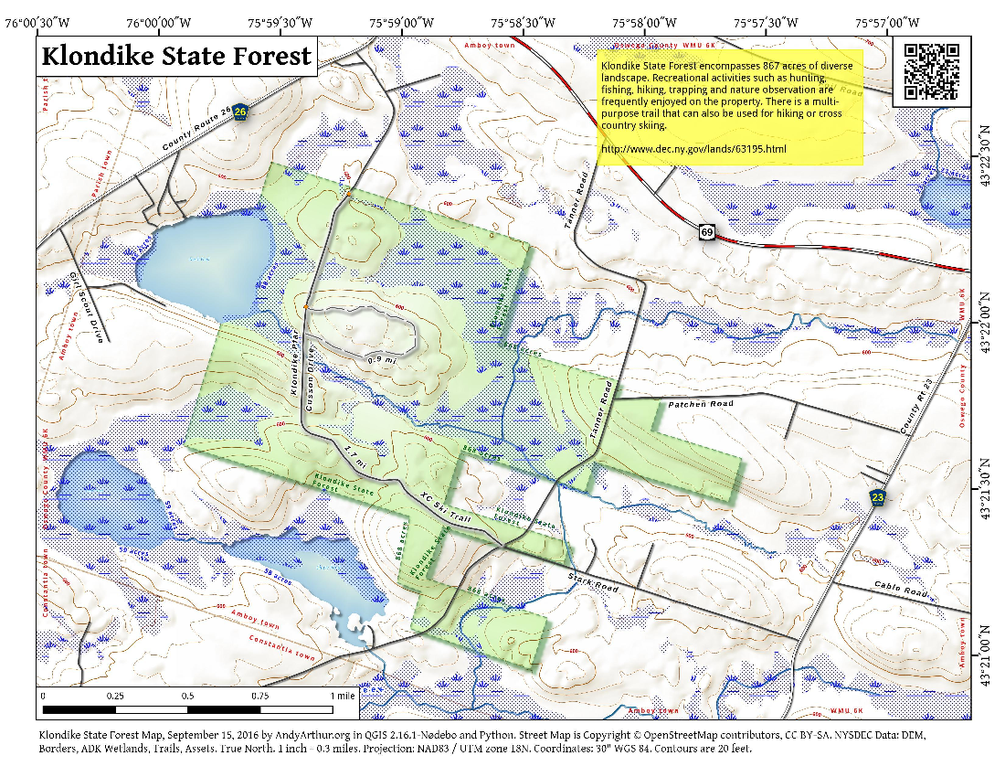Map: Klondike State Forest