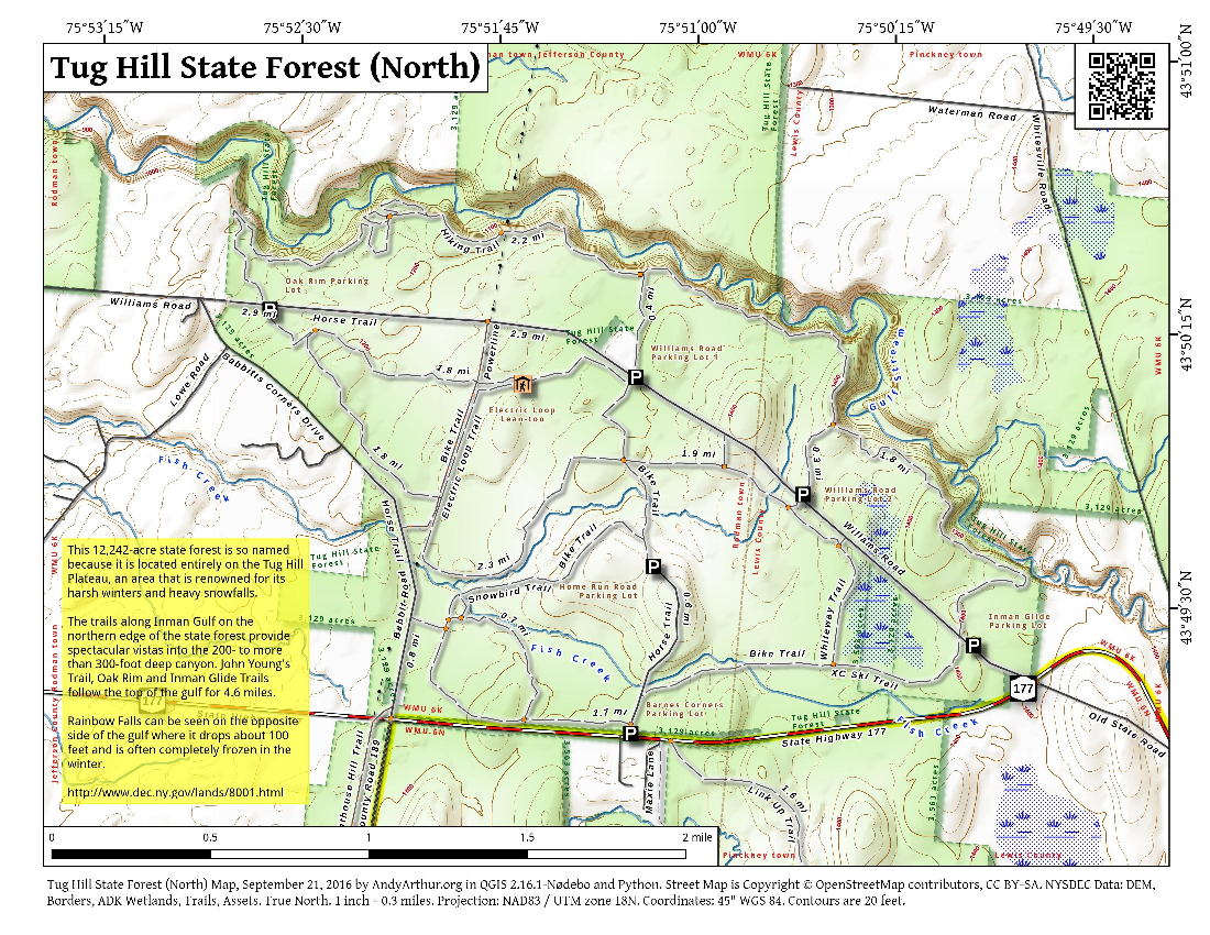 Map: Tug Hill State Forest (North)