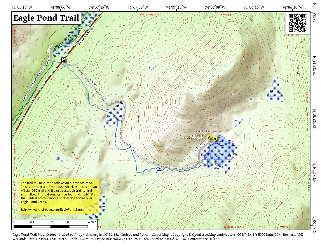 Map: Eagle Pond Trail