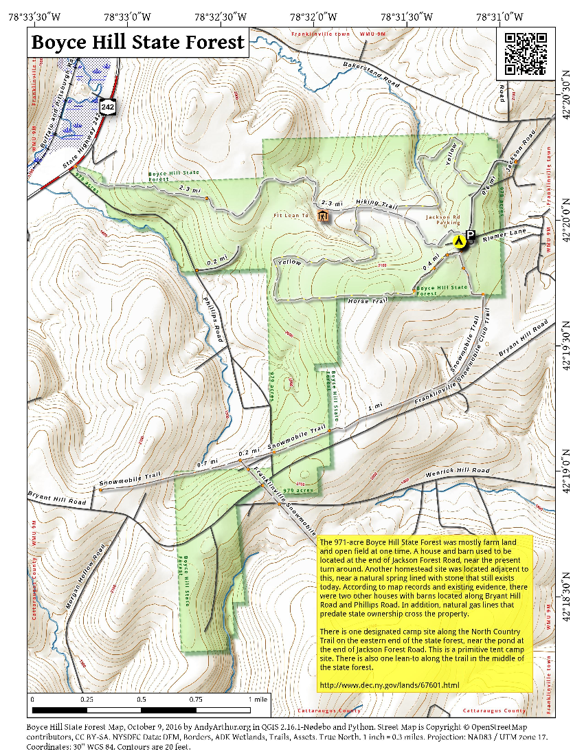 Map: Boyce Hill State Forest