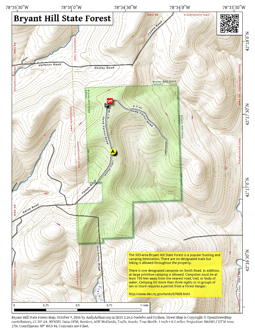 Map: Bryant Hill State Forest