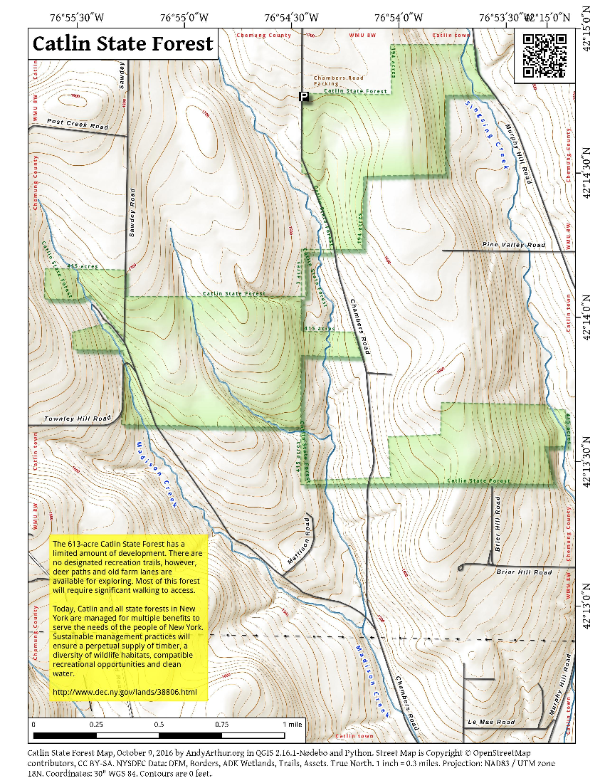 Map: Catlin State Forest