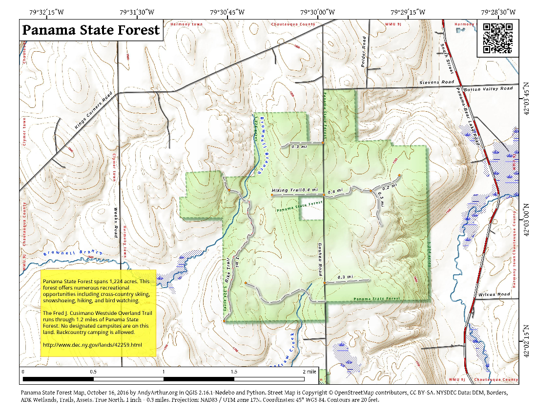 Map: Panama State Forest