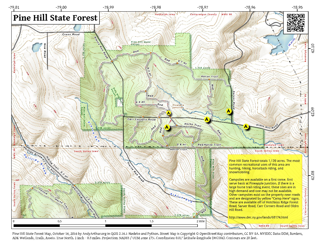 Map: Pine Hill State Forest
